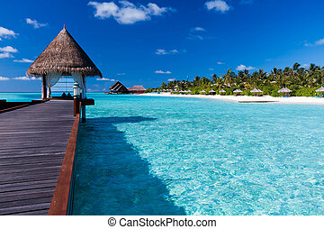 intorno, isola, overwater, tropicale, laguna, terme