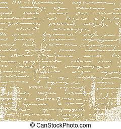 invecchiamento, manoscritto, carta da pacchi, illustrazione, vettore