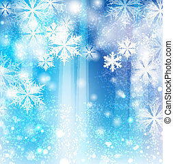 inverno, fondo, fiocchi neve
