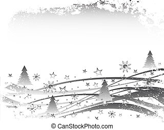 inverno, -, scena, natale