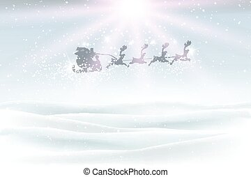 inverno, volare, cielo, 2609, santa, paesaggio