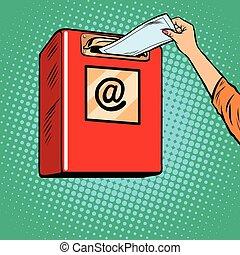 invio, carta, lettere, inbox
