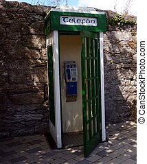 irlandese, telefono, originale, chiosco