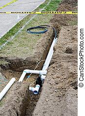 irrigazione, installazione, sistema