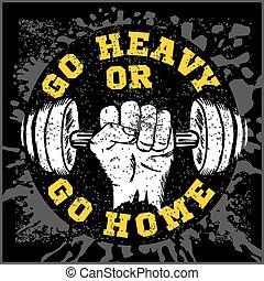 iscrizione, flayer, manifesto, idoneità, etichetta, t-shirt, bodybuilding, vendemmia, stampa, logotipo