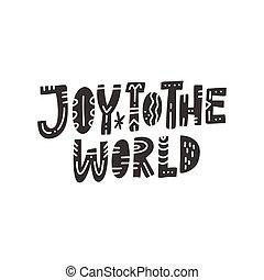 iscrizione, mondo, gioia