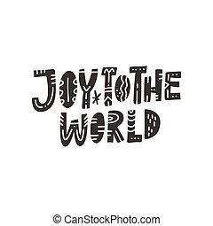 iscrizione, natale, mondo, gioia