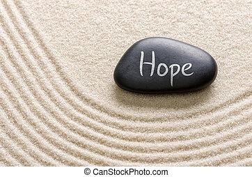 iscrizione, pietra, nero, speranza