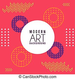 iscrizione, sfondo rosa, memphis, arte, moderno