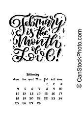 iscrizione, stile, 9., mese, 1, 0, 2, citare, disegnato, calendario, mano, design.