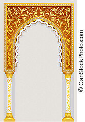 islamico, disegno, arco