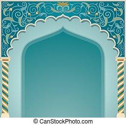 islamico, disegno, eps10, arco, formato