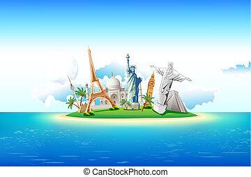 isola, monumenti