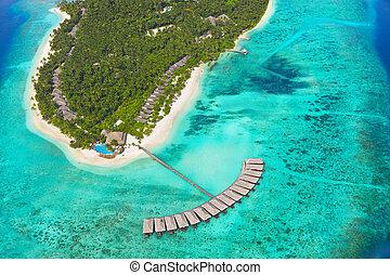 isola tropicale, maldive