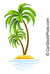 isola tropicale, palma