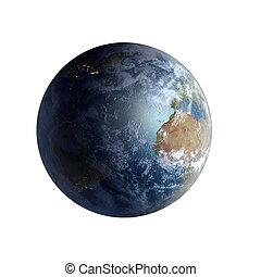 isolamento, pianeta, oceano atlantico, terra