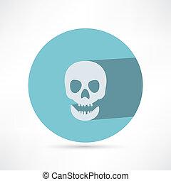 isolated., cranio, icona