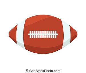 isolato, balloon, football, icona americana