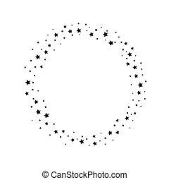 isolato, cadere, traccia, segno, scia, bianco, stella