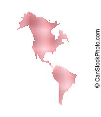 isolato, icona, americano, mappa, continente