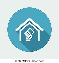 isolato, illustrazione, telefono, singolo, vettore, icona