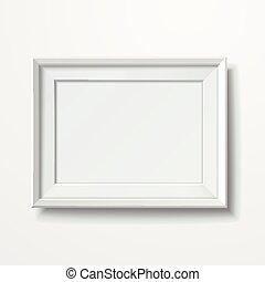 isolato, immagine, vuoto, cornice, bianco