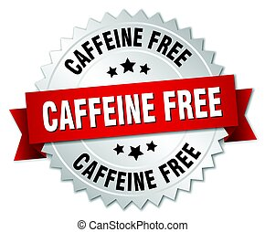 isolato, libero, argento, caffeina, distintivo, rotondo
