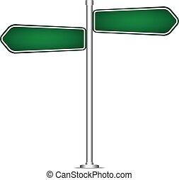 isolato, segno, polo, vettore, vuoto, strada