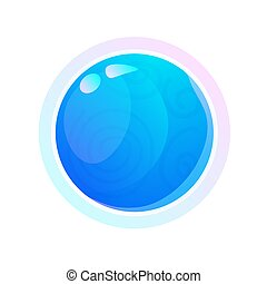isolato, sfondo bianco, spazio, pianeta, blu