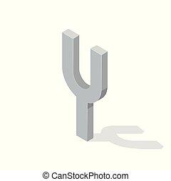 isometrico, camerton, isolato, illustrazione, fondo., vettore, bianco