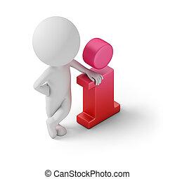 isometrico, informazioni, -, persone