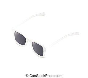 isometrico, occhiali da sole, isolato, illustrazione, fondo., vettore, bianco