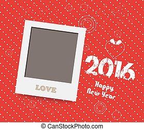 istante, felice, nuovo, 2016., vuoto, anno