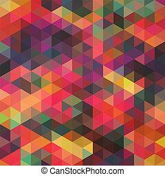it., triangolo, sfondo., colorito, modello, cima, shapes., triangoli, fondo., fondo, hipster, mosaico, testo, posto, geometrico, tuo, fondale, retro