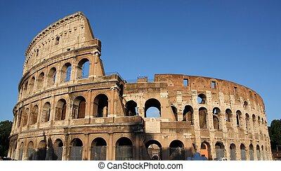 italia, colosseo, famoso, rome(flavian, amphitheatre), colosseo, o