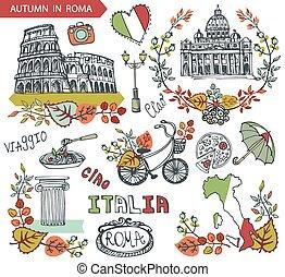 italia, roma, set, punto di riferimento