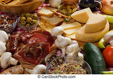italiano cibo, ingredienti