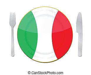italiano, concept., cibo