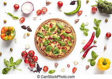 italiano, ingredienti, pizza