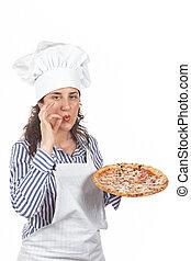 italiano, saporito, tuo, pizza