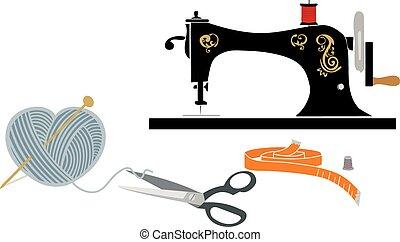 items:, hobby, cucito, collegamento