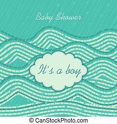 """""""it's, boy"""", doccia, bambino, invito"""