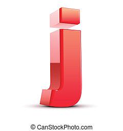 j, lettera, 3d