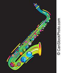 jazzy, musica, colorito, fondo