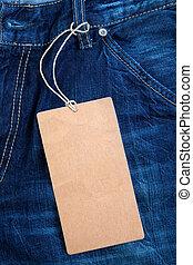 jeans, etichetta