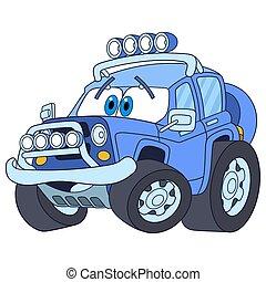jeep, automobile, cartone animato