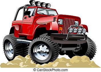 jeep, cartone animato