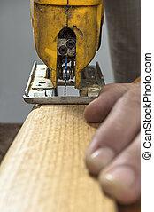 jigsaw, attrezzo, taglio, elettrico, legno