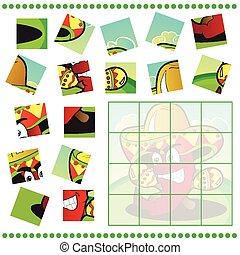 jigsaw, bambini, puzzle, gioco