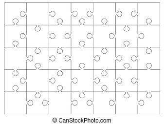 jigsaw, contorno, fondo